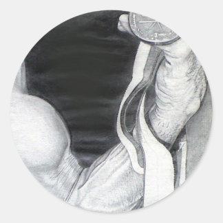 Flexing Medal: www.AriesArtist.com Classic Round Sticker