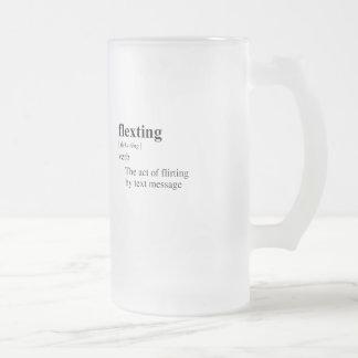 FLEXTING 16 OZ FROSTED GLASS BEER MUG