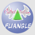Fliangle, clueberries.com round stickers