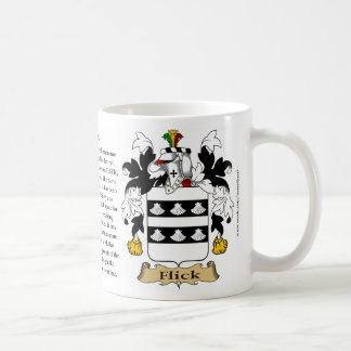 Flick, the Origin, the Meaning and the Crest Coffee Mug