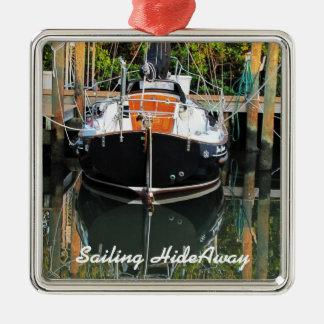 Flicka Sailboat Reflections Ornament