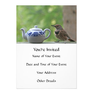 Flicker and Teapot Custom Invitations
