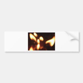 Flickering Flames Bumper Sticker