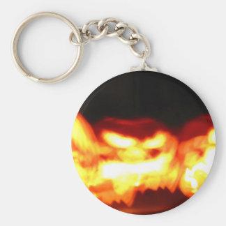Flickering Jack-O-Lanterns Keychain