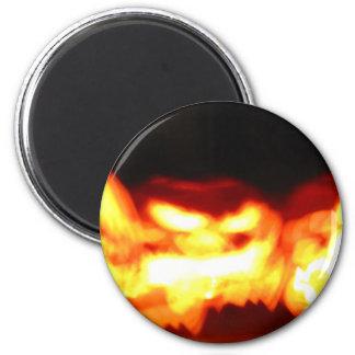 Flickering Jack-O-Lanterns Refrigerator Magnet