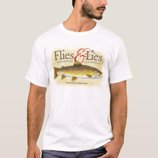 Flies & Lies Brown Trout Tee