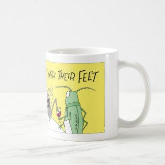 Flies taste with their feet coffee mug