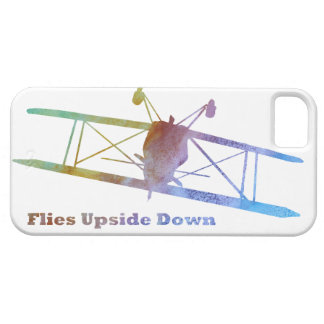 """Flies Upside Down"" Biplane iPhone SE/5/5s Case"