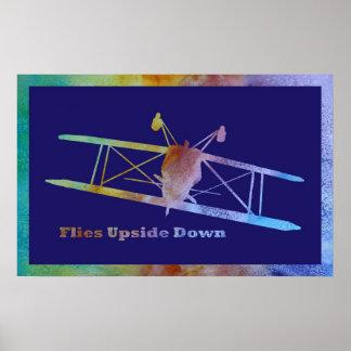 Flies Upside Down Poster
