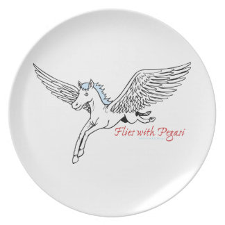Flies with Pegasi Party Plates