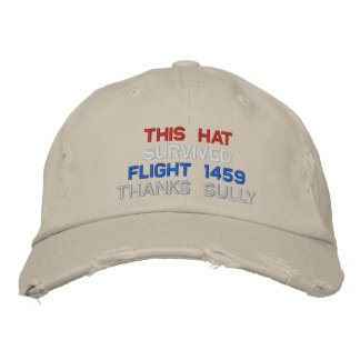 FLIGHT 1459 EMBROIDERED BASEBALL CAP