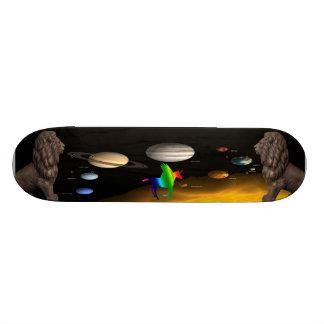 Flight among the Guardians Skateboard Deck