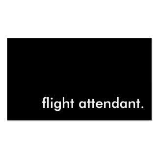 flight attendant. Double-Sided standard business cards (Pack of 100)