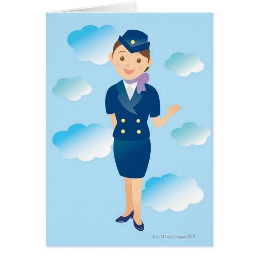 Flight Attendant Card