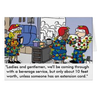 Flight Attendant Christmas Lights Greeting Card