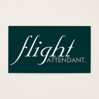 flight attendant. (color and font customizable) business card