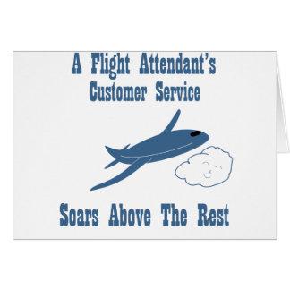 Flight Attendant Customer Service Card