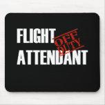 FLIGHT ATTENDANT DARK MOUSE MAT