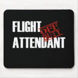 FLIGHT ATTENDANT DARK MOUSE PAD