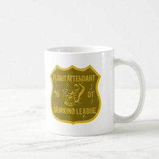 Flight Attendant Drinking League Classic White Coffee Mug