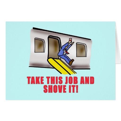 Flight Attendant Emergency Chute Humor Card