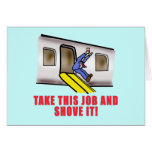 Flight Attendant Emergency Chute Humor Greeting Card