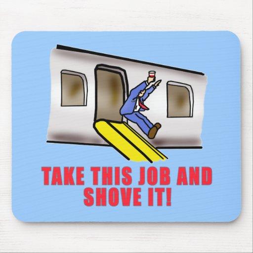 Flight Attendant Emergency Chute Humor Mouse Pad