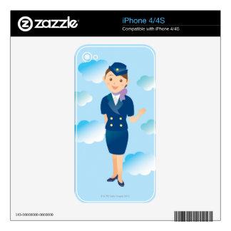 Flight Attendant iPhone 4S Decal