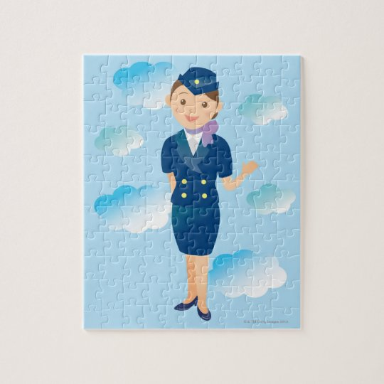 Flight Attendant Jigsaw Puzzle