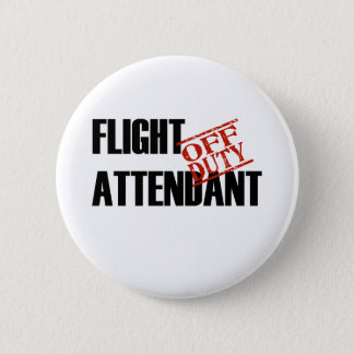 FLIGHT ATTENDANT LIGHT PINBACK BUTTON