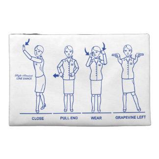 Flight Attendant Line Dance Travel Pouch Travel Accessories Bag