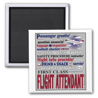 Flight Attendant Magnet