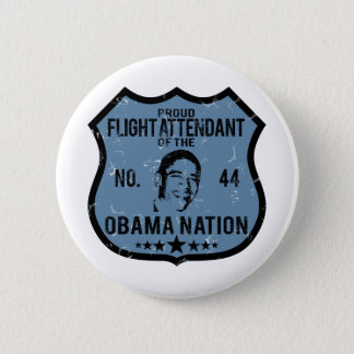 Flight Attendant Obama Nation Button