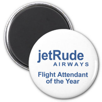 Flight Attendant of the Year 2 Inch Round Magnet