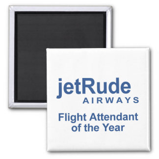 Flight Attendant of the Year 2 Inch Square Magnet