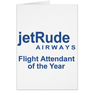 Flight Attendant of the Year Greeting Card