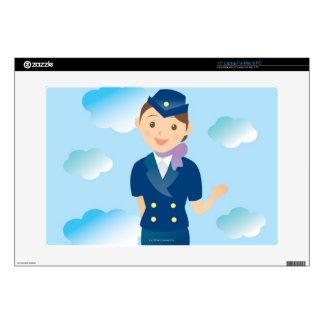Flight Attendant Laptop Skin