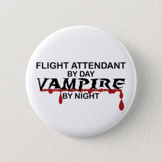 Flight Attendant Vampire by Night Button