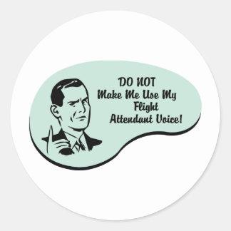 Flight Attendant Voice Classic Round Sticker