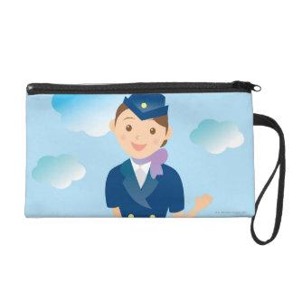 Flight Attendant Wristlet Purse