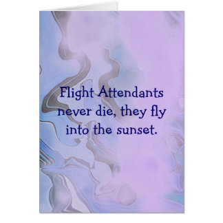flight attendants card