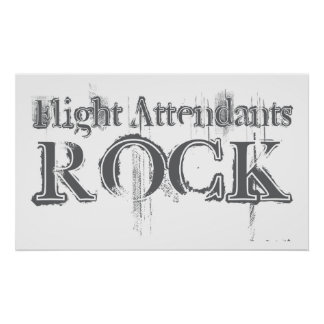 Flight Attendants Rock Poster