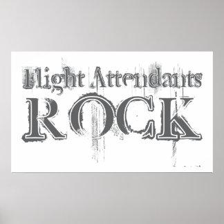Flight Attendants Rock Poster