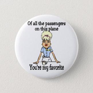 Flight Attendant's Welcome Pinback Button