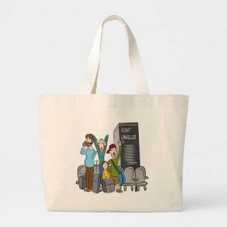 Flight Cancelled Cartoon Jumbo Tote Bag