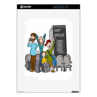 Flight Cancelled Cartoon Decal For iPad 2