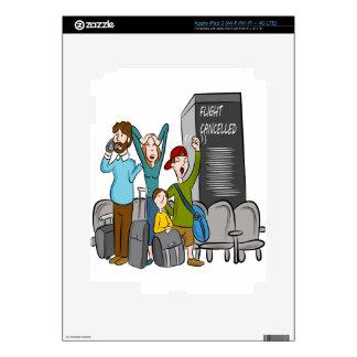 Flight Cancelled Cartoon Decals For iPad 3