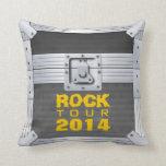 Flight Case Rock Tour 2014 Throw Pillow