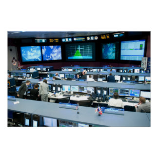 Flight Control Room Johnson Space Center Poster