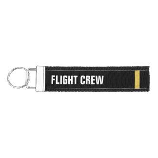 Flight Crew 1 Bar Gold Epaulettes Wrist Keychain